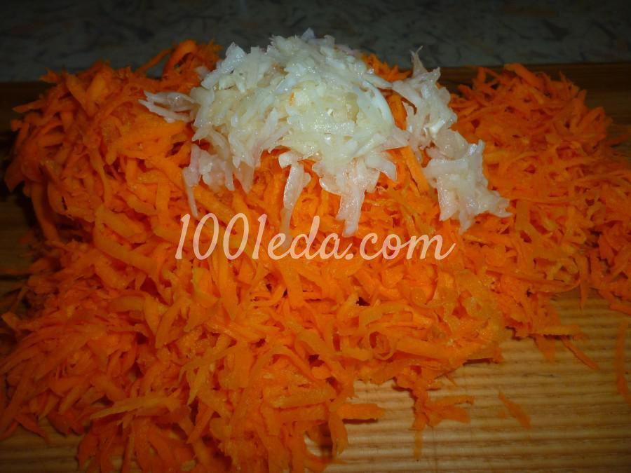 Овощная закуска из кабачка, баклажана и моркови: пошаговое фото - Шаг №6