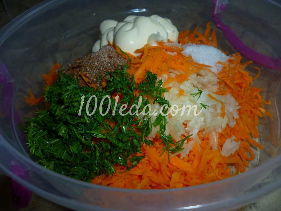 Овощная закуска из кабачка, баклажана и моркови: пошаговое фото - Шаг №7