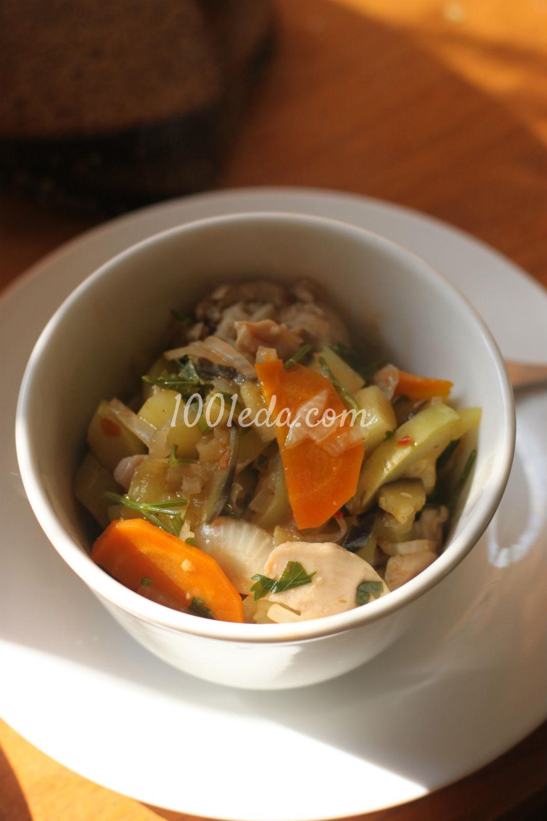 Овощное рагу рецепт пошагово в кастрюле с курицей