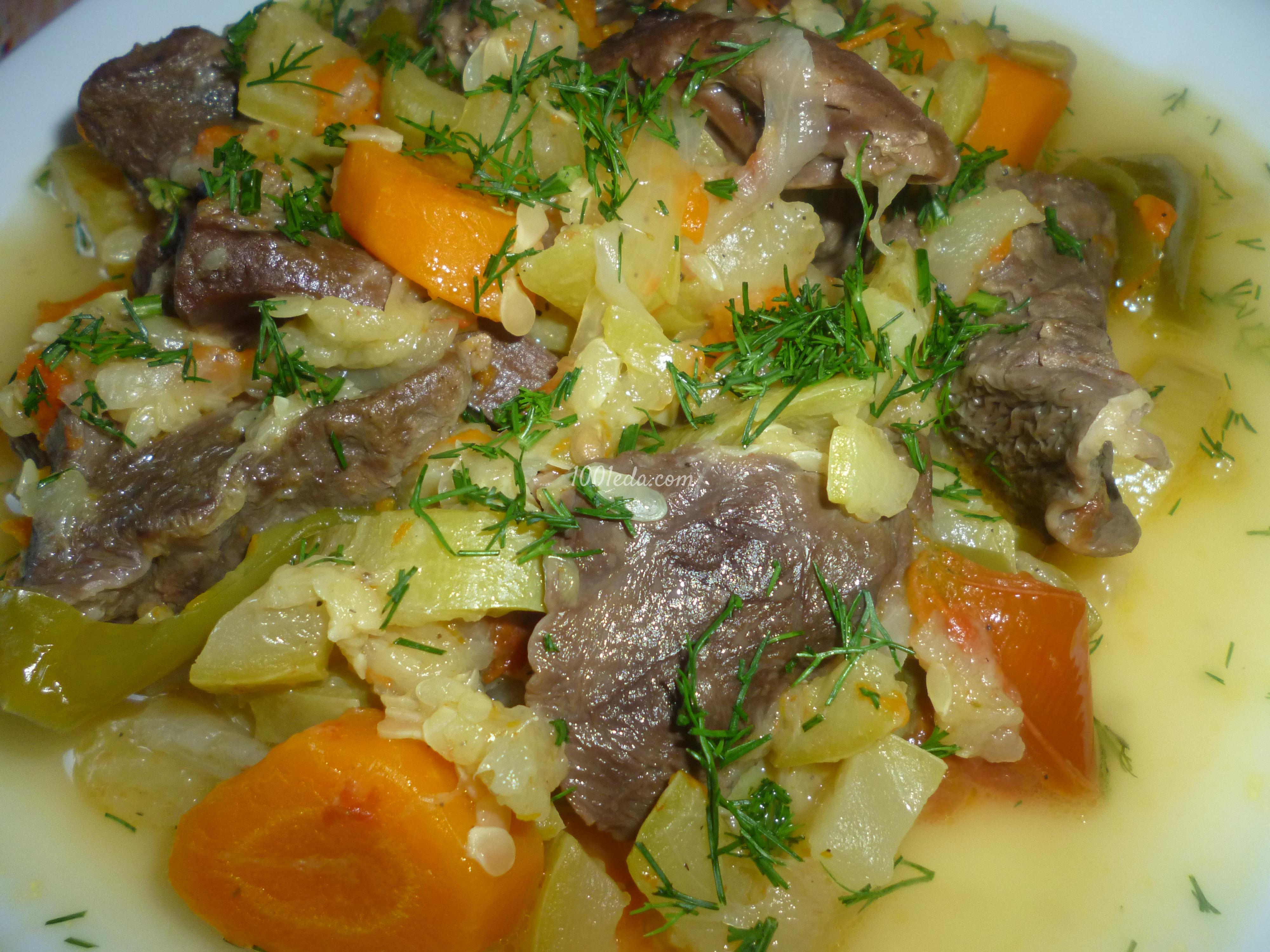 Овощное рагу в мультиварке со свининой рецепт пошагово