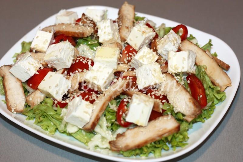 Пп салат из куриной грудки