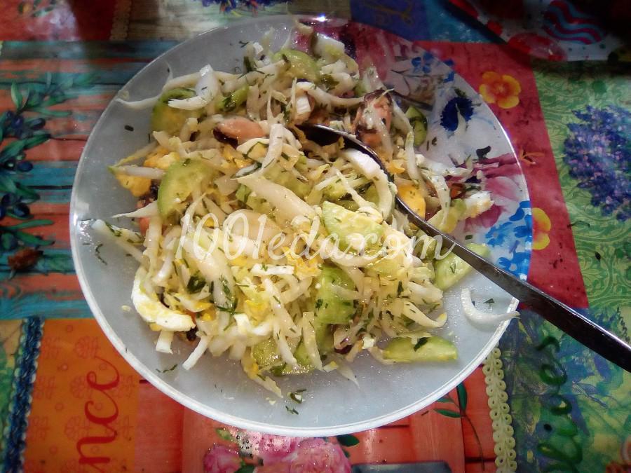 Овощной салат с мидиями: пошаговое фото - Шаг №2
