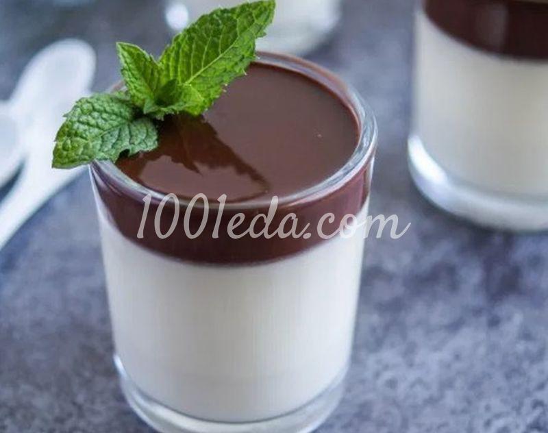 Панна Котта с шоколадным соусом