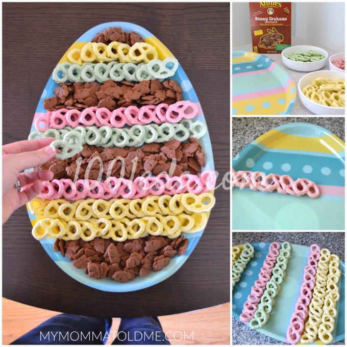 Пасхальная тарелка на десерт без выпечки