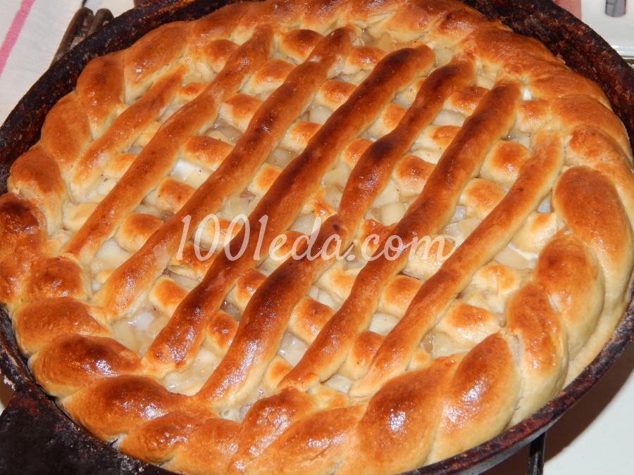 Яблочный пирог дрожжевой рецепт с пошагово в духовке