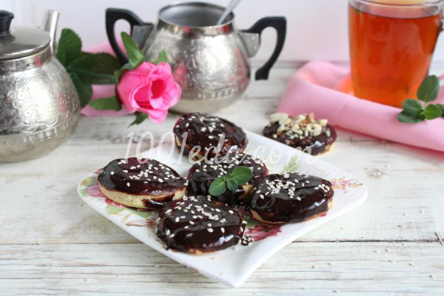 Песочное печенье с шоколадной глазурью: пошаговое фото - Шаг №6
