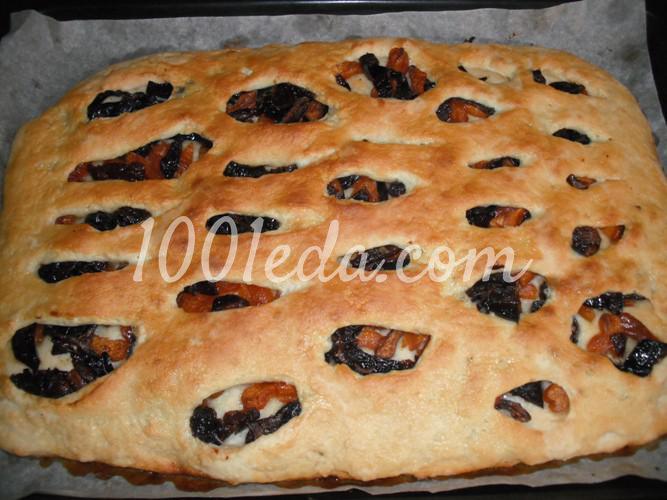 Песочный пирог с курагой рецепт с фото