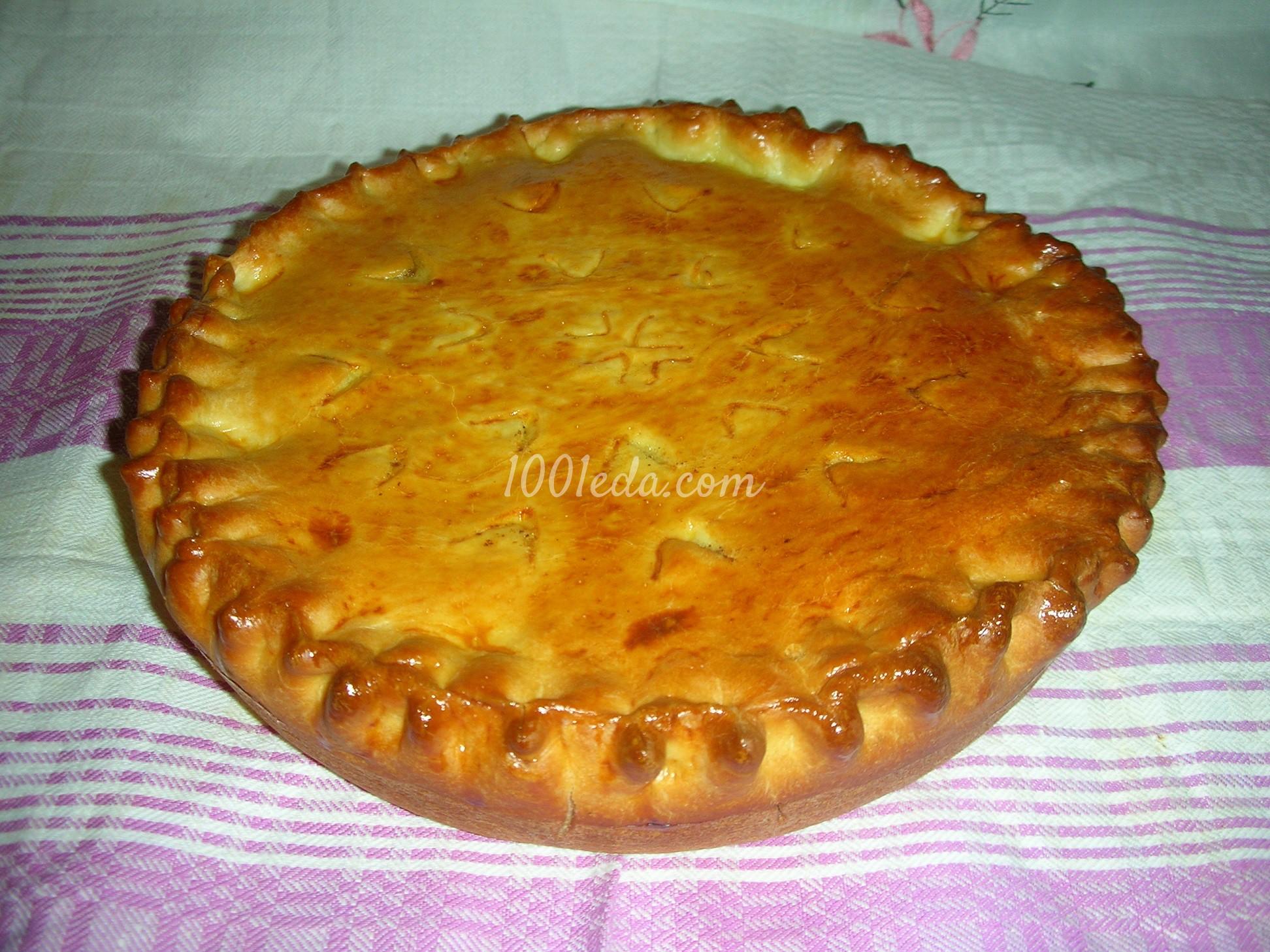 Пирог из дрожжевого теста в духовке с луком и яйцом