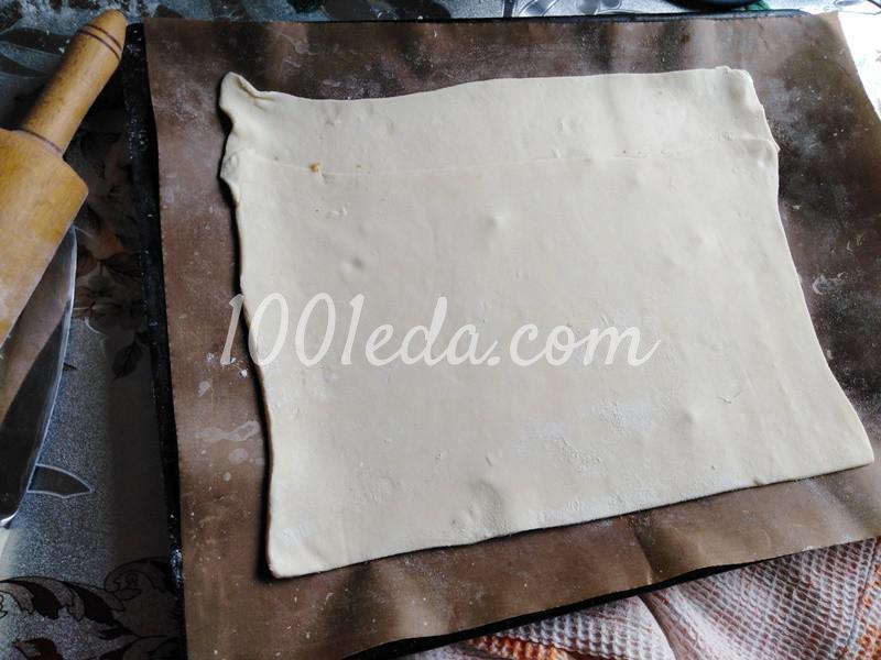 Пирог из слоеного теста с грибами-строчками и картофелем: пошаговое фото - Шаг №2