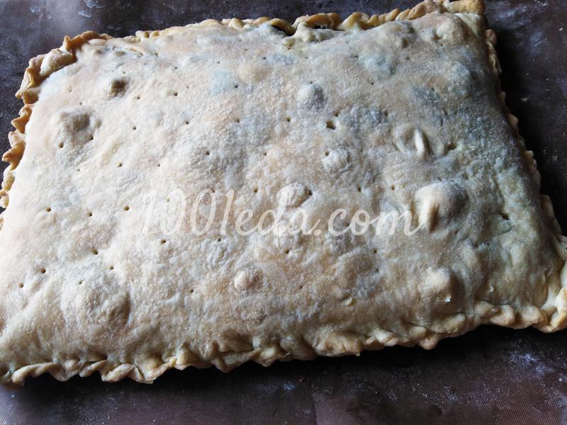 Пирог из слоеного теста с грибами-строчками и картофелем: пошаговое фото - Шаг №5
