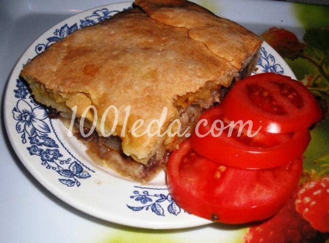 Пирог на кефире с мясом рецепт с