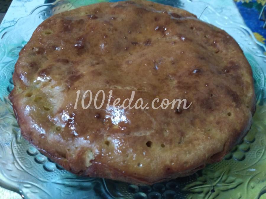 Пирог с тушеной капустой на кефире