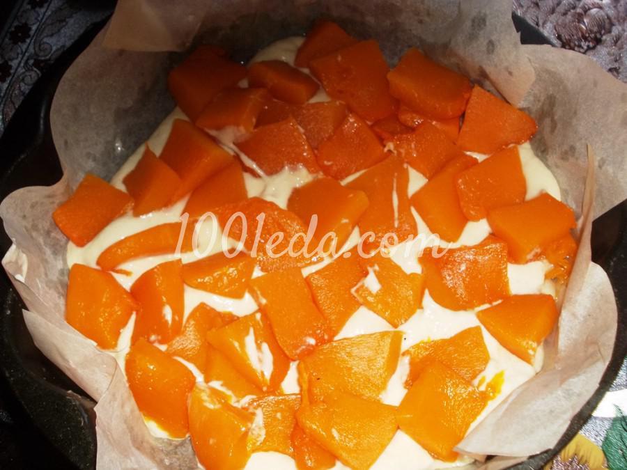 Пирог с тыквой из заливного теста на кефире: пошаговое фото - Шаг №4
