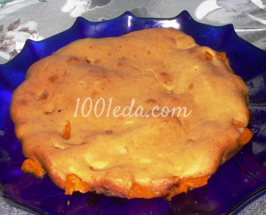 Пирог с тыквой из заливного теста на кефире: пошаговое фото - Шаг №7