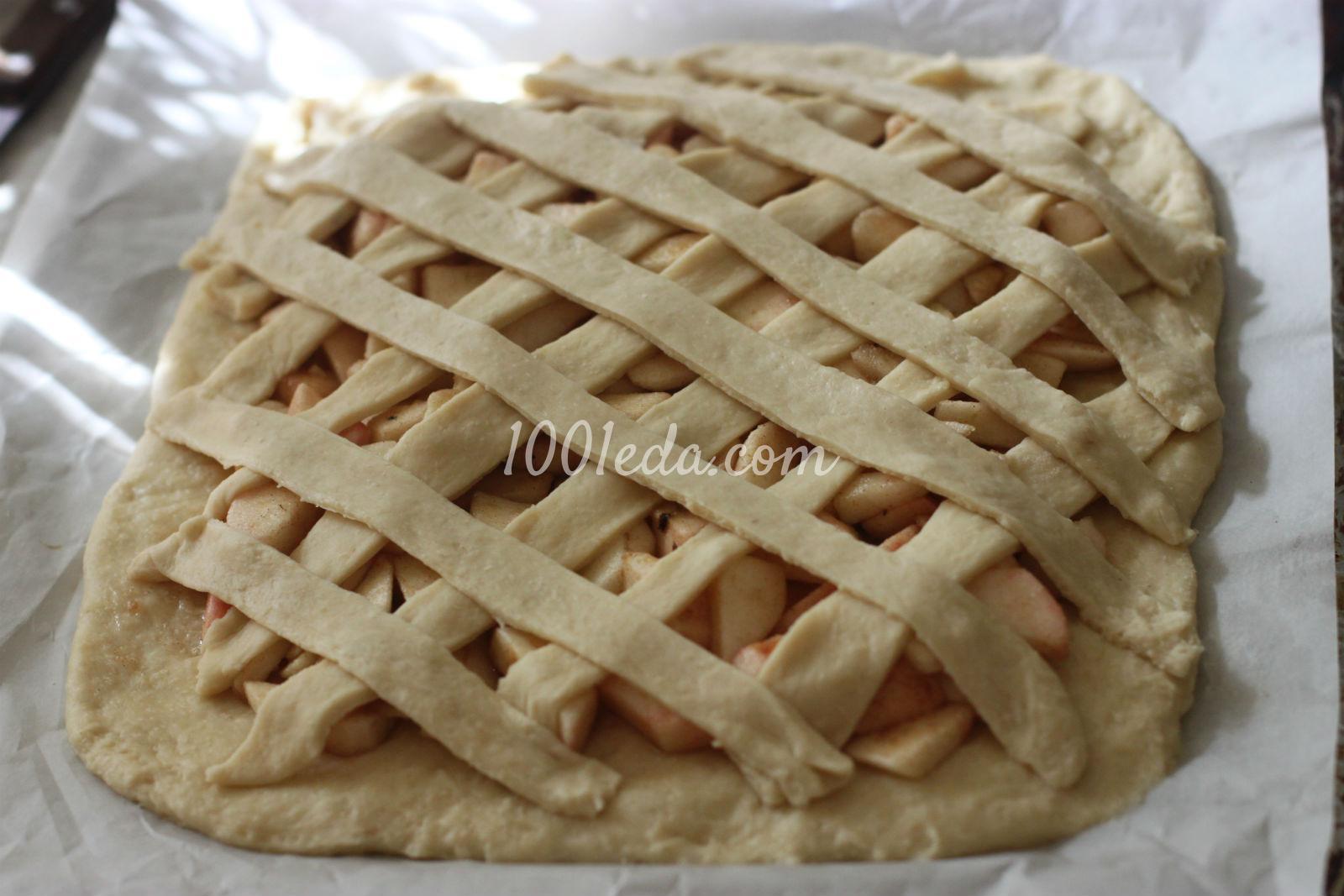 Пирог с яблоками на дрожжевом тесте рецепт пошагово 3