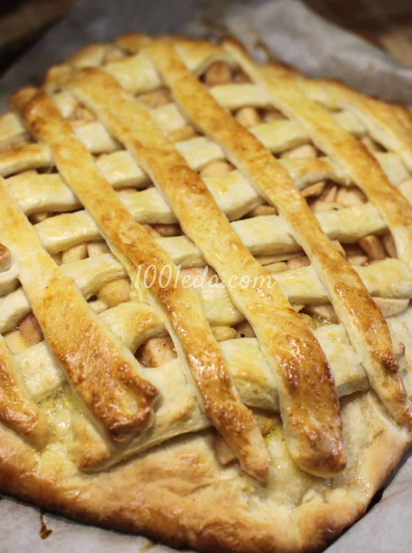 Пирог с яблоками на дрожжевом тесте рецепт пошагово 16
