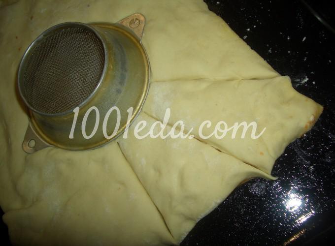 Пирог - закуска Завитушечное солнышко: рецепт с пошаговым фото - Шаг №3