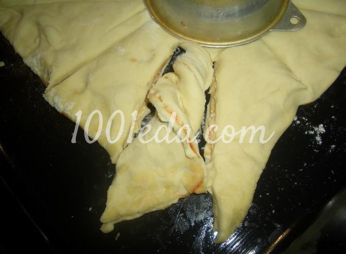 Пирог - закуска Завитушечное солнышко: рецепт с пошаговым фото - Шаг №4