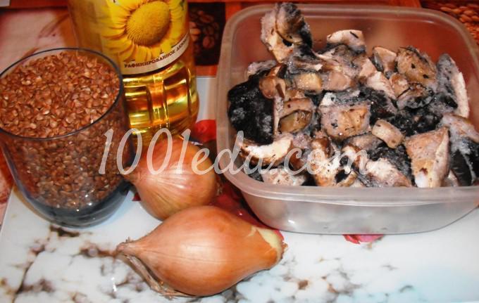 Постная гречневая каша с грибами в мультиварке: рецепт с пошаговым фото - Шаг №1
