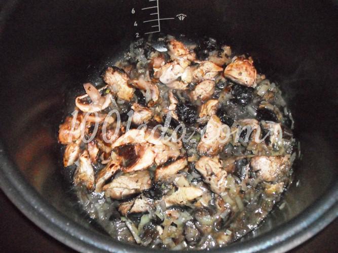 Постная гречневая каша с грибами в мультиварке: рецепт с пошаговым фото - Шаг №5