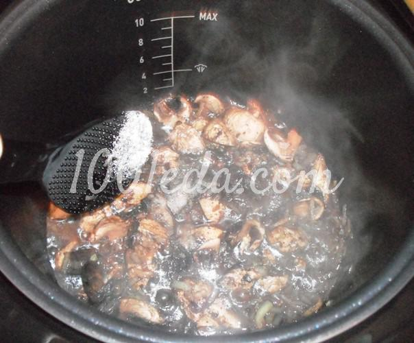 Постная гречневая каша с грибами в мультиварке: рецепт с пошаговым фото - Шаг №6