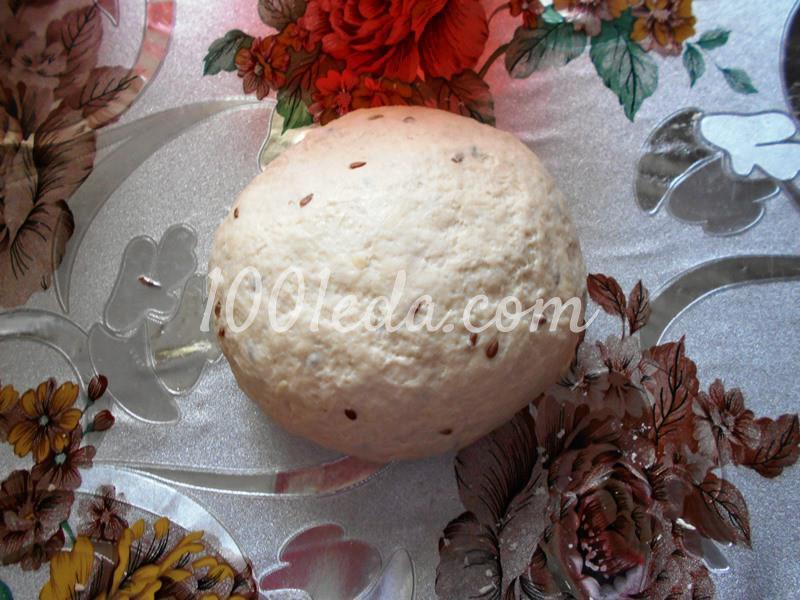 Постный домашний хлеб с семенами льна в мультиварке: пошаговый с фото - Шаг №4