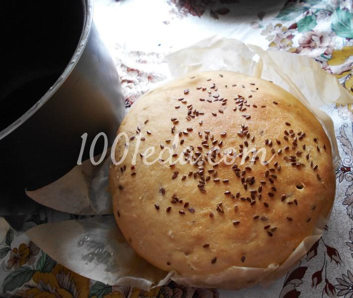 Постный домашний хлеб с семенами льна в мультиварке: пошаговый с фото - Шаг №6