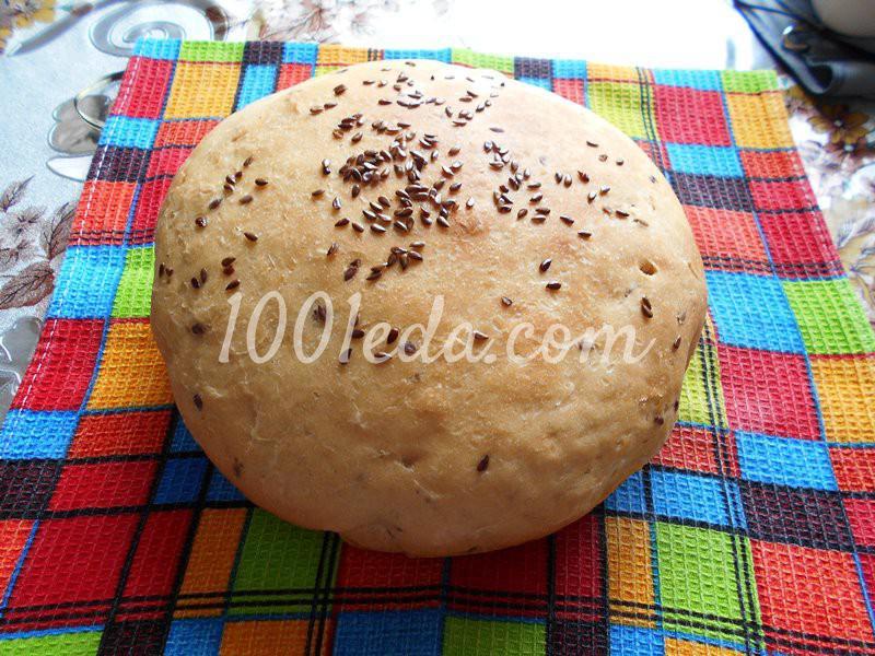 Постный домашний хлеб с семенами льна в мультиварке: пошаговый с фото - Шаг №7