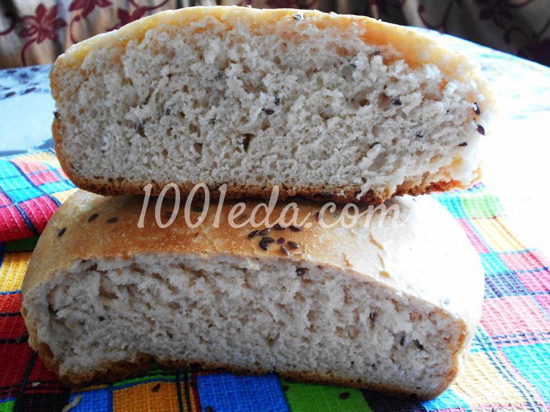Постный домашний хлеб с семенами льна в мультиварке: пошаговый с фото - Шаг №8