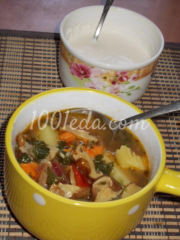 Постный суп грибной рецепт пошагово