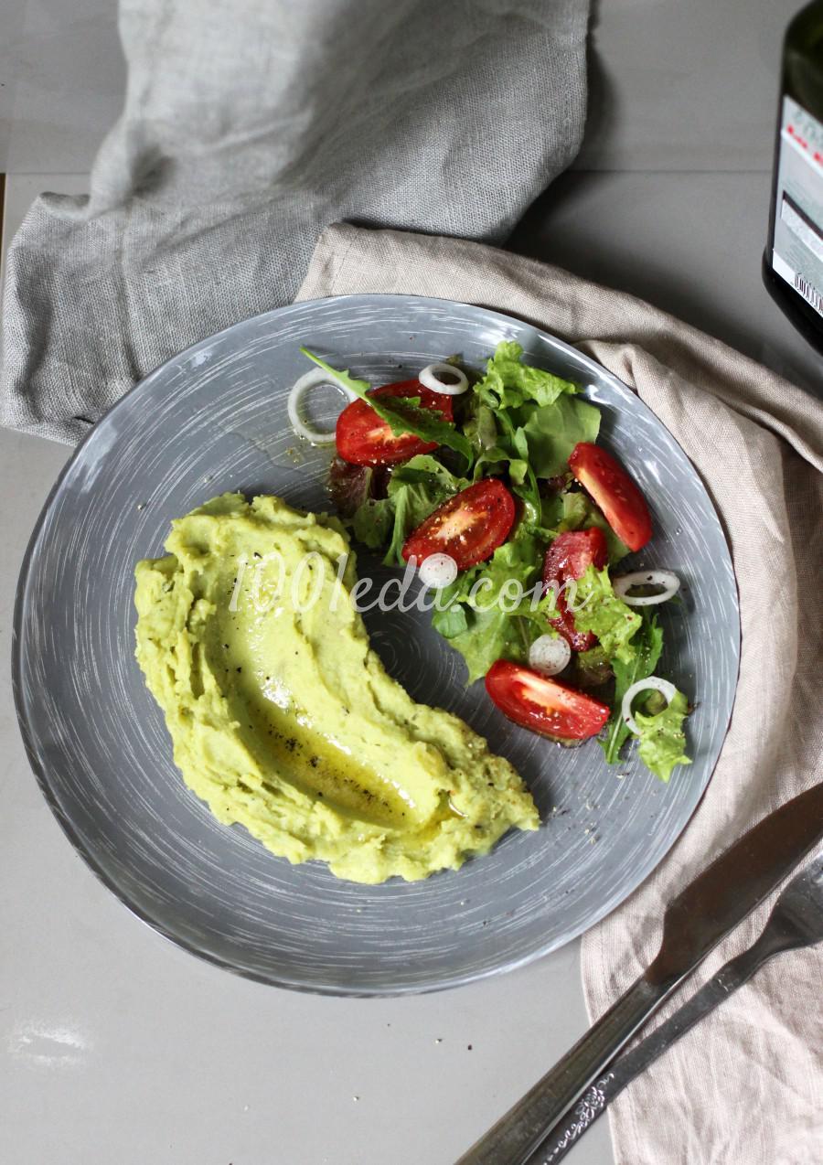 Пюре из картофеля и зеленого горошка с ароматным маслом