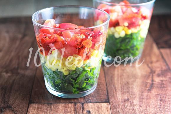 Радужный салат в стакане: рецепт с пошаговым фото - Шаг №3