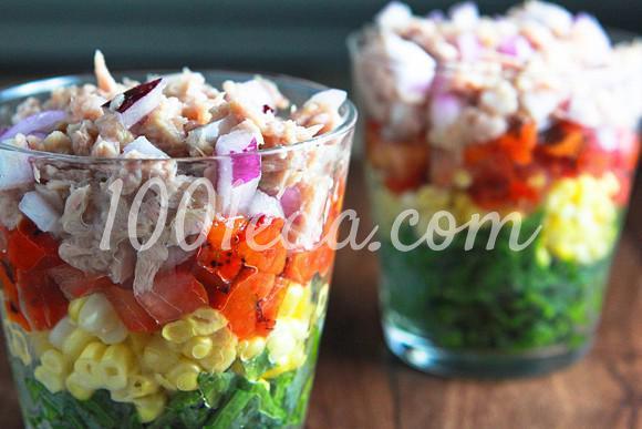 Радужный салат в стакане: рецепт с пошаговым фото - Шаг №4