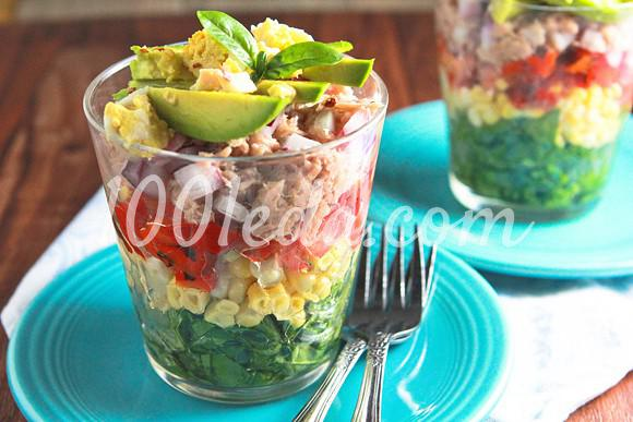 Радужный салат в стакане: рецепт с пошаговым фото - Шаг №6