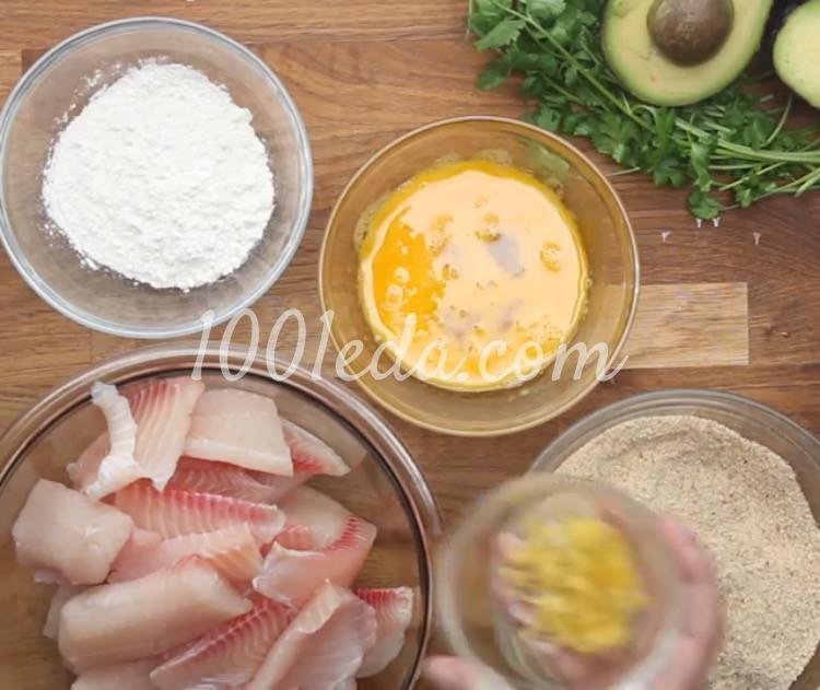 Рыбные палочки с соусом из авокадо: рецепт с пошаговым фото - Шаг №3