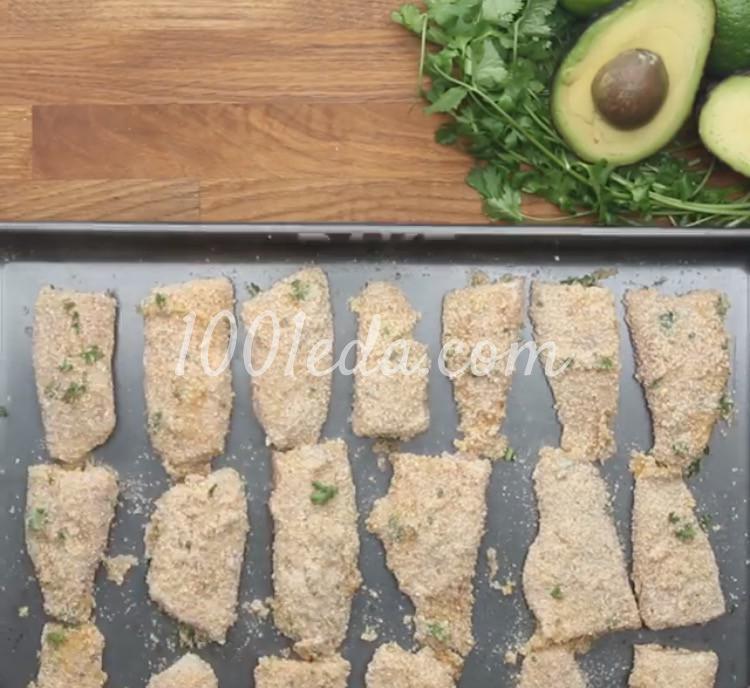 Рыбные палочки с соусом из авокадо: рецепт с пошаговым фото - Шаг №6