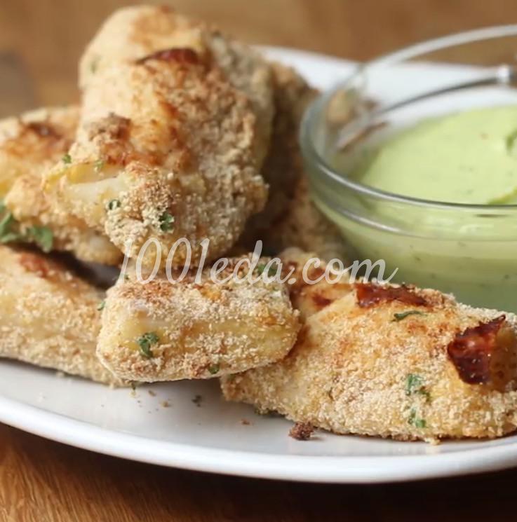 Рыбные палочки с соусом из авокадо: рецепт с пошаговым фото - Шаг №8