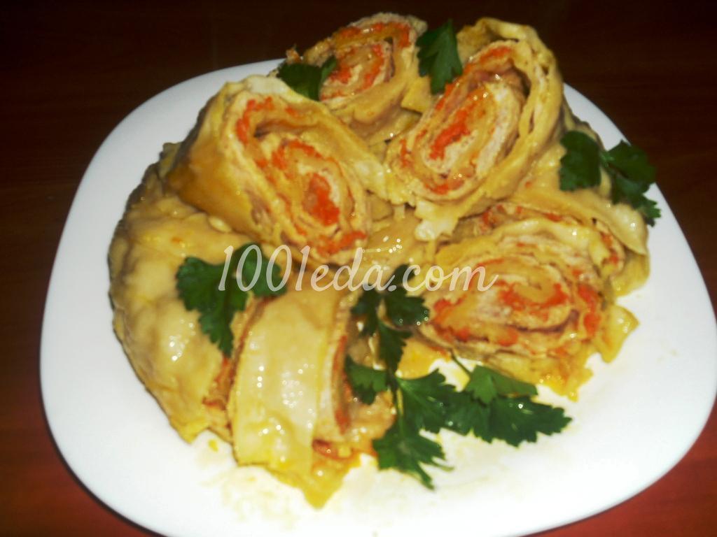 рулет из фарша с макаронами с пошаговым рецептом