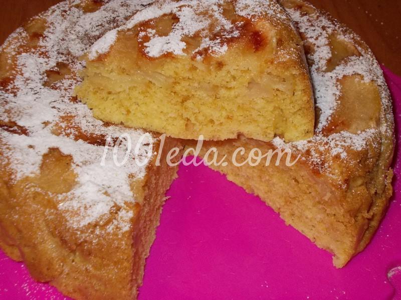 Быстрая шарлотка на кефире с яблоками рецепт с фото