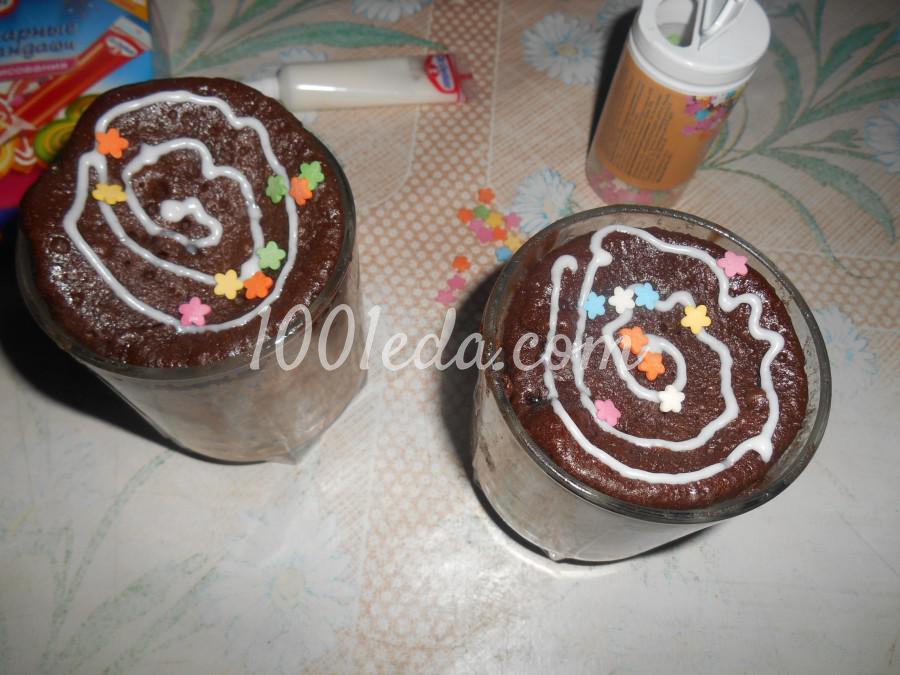 Шоколадные кексы за 5 минут в микроволновке
