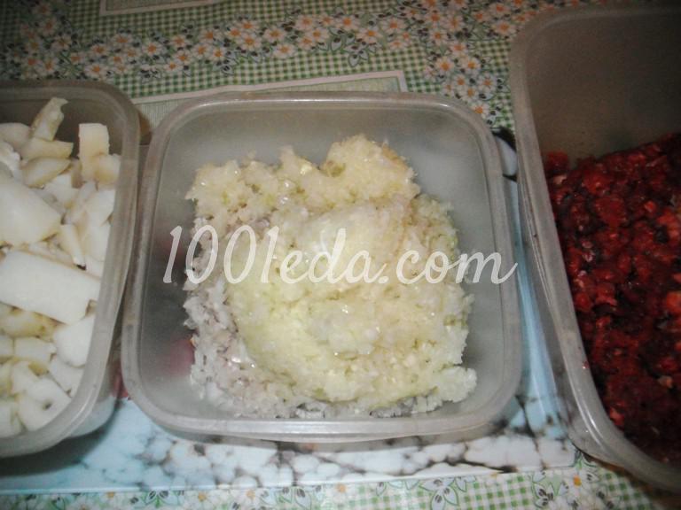 Штрудель с мясом и картофелем в духовке: пошаговый с фото - Шаг №3