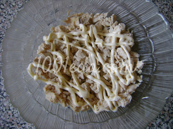 салат с курицей и рецепт с фото пошаговым фото
