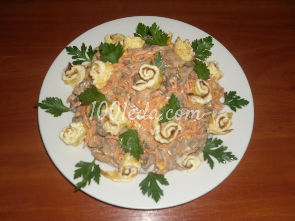 Салат с блинами фото пошагово