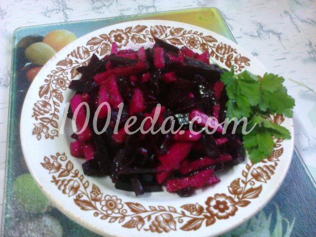 салаты из свеклы с маслом рецепты с фото