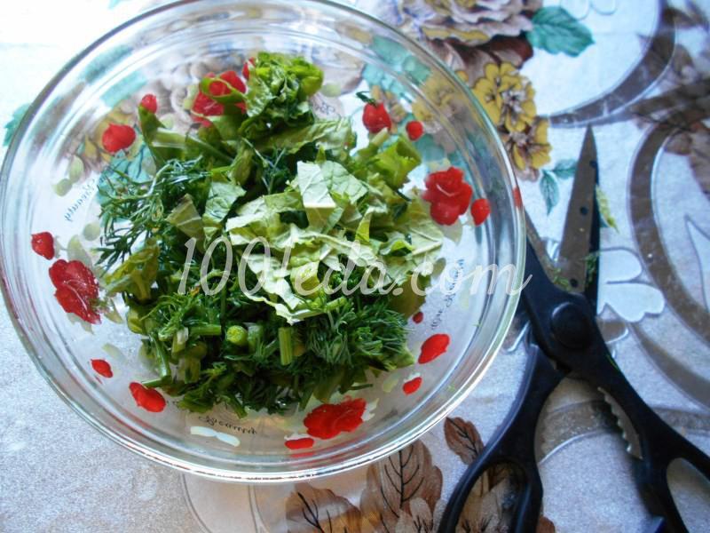 Салат из любимых травок с заливкой: пошаговое фото - Шаг №2