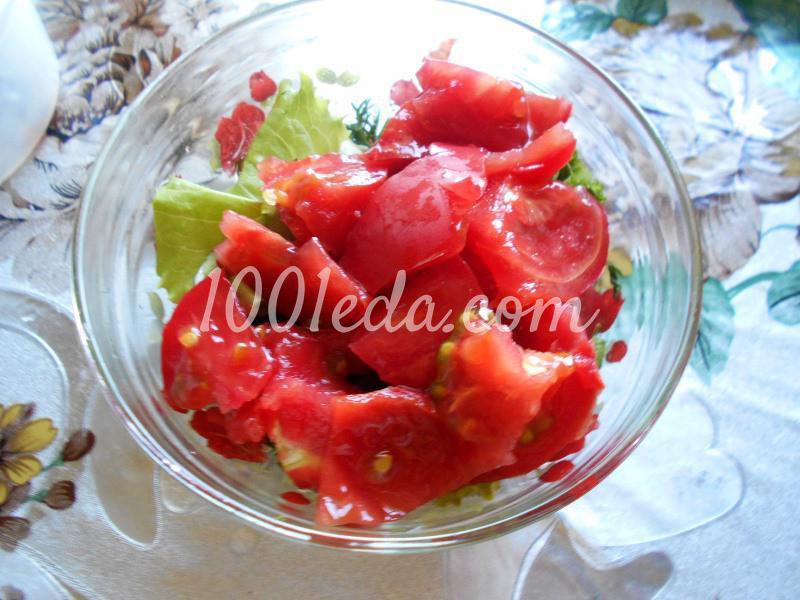Салат из любимых травок с заливкой: пошаговое фото - Шаг №3