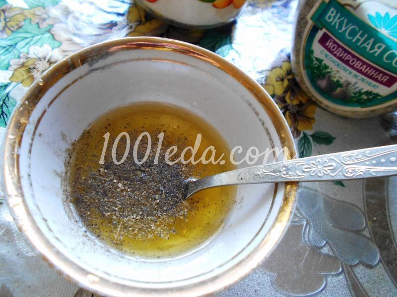 Салат из любимых травок с заливкой: пошаговое фото - Шаг №5