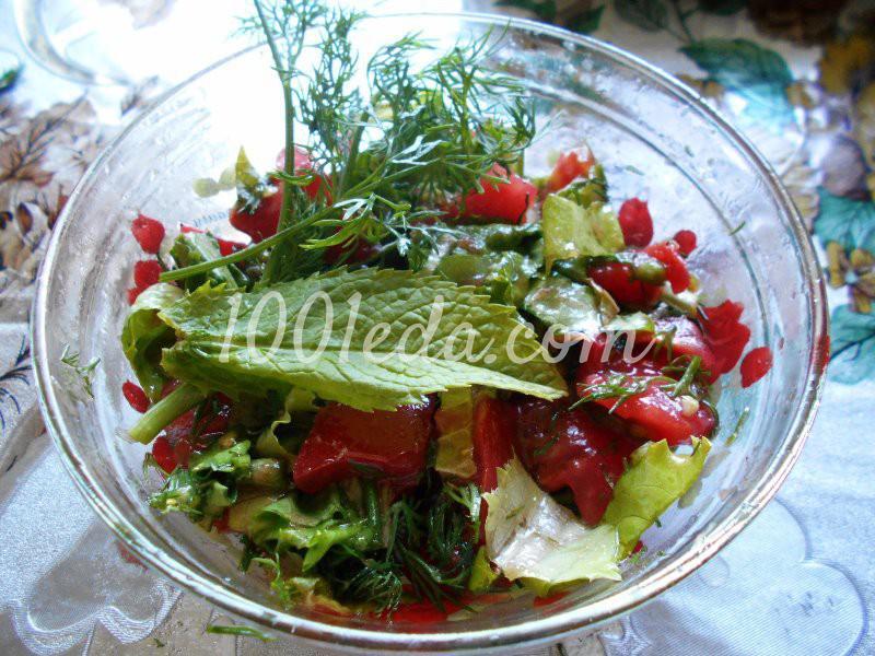 Салат из любимых травок с заливкой: пошаговое фото - Шаг №7