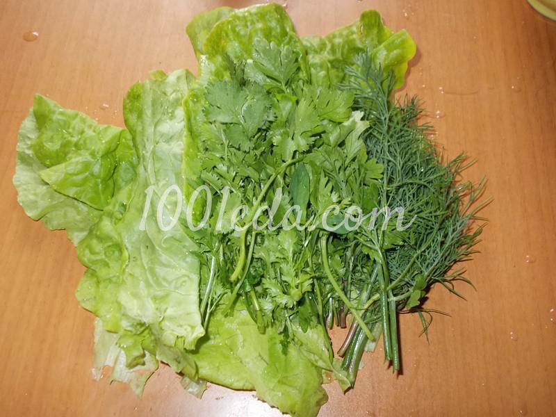 """Салат из редиса с зеленью """"Зеленая полянка"""": пошаговый с фото - Шаг №2"""