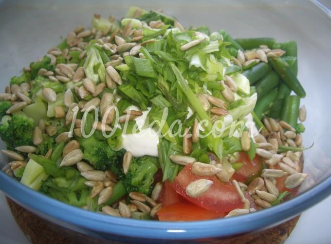 Салат из свежих овощей и фасоли